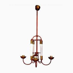 Lámpara de araña italiana Art Déco de Paolo Buffa, años 20