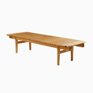 Mid-Century Modernist Danish Ash Bench by Hans J. Wegner, 1953
