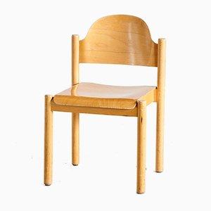 Stapelbarer Beistellstuhl aus Buche, 1970er