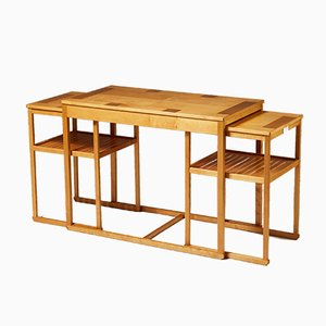 Table Console Moderniste en Acajou par Carl Malmsten, 1980s