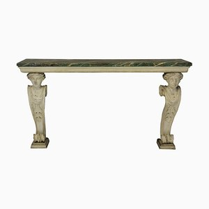 Antique Wood and Marble Console Table, 1790s