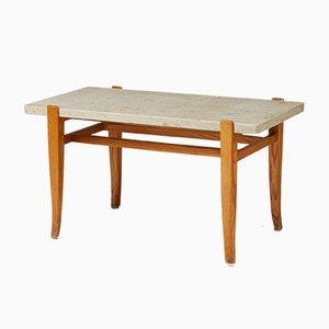Mid-Century Modernist Elm Console Table, 1950s