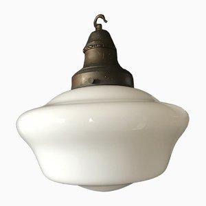 Vintage Deckenlampe aus Opalglas, 1920er