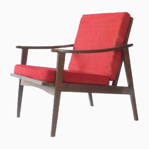 Mid-Century Ash Lounge Chair, 1960s