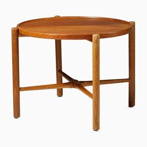 Tavolino modernista in quercia e teak di Hans J. Wegner per Andreas Tuck, Danimarca, anni '50