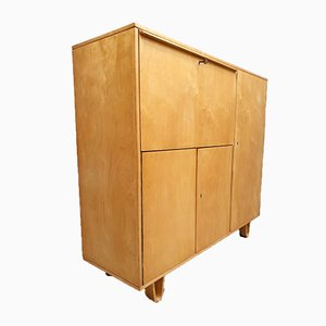 Model CB01 Birch Secretaire by Cees Braakman for Pastoe, 1950s