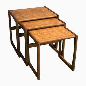 Tavolini ad incastro moderni in teak, Scandinavia, anni '70
