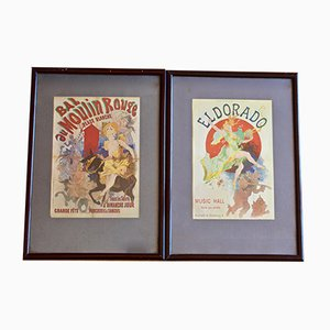 Antique French Moulin Rouge & El Dorado Poster by Julies Chéret, 1894, Set of 2