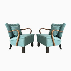 Model WH237 Bentwood Armchairs by Jindřich Halabala, 1940s, Set of 2