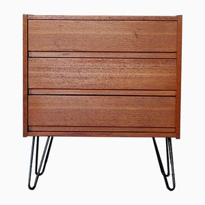 Mid-Century German Steel & Teak Chest of Drawers, 1960s