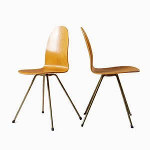 The Tongue Side Chair by Arne Jacobsen for Fritz Hansen, 1950s