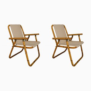 Italian Folding Chairs by Raffaella Crespi, 1950s, Set of 2