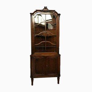 Mobiletto Chippendale antico in vetro e legno