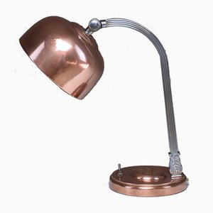 Lámpara de mesa francesa Art Déco de latón y cobre, años 30