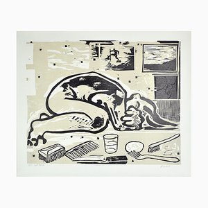 Dänischer Holzschnitt von Erik Hagens, 1984