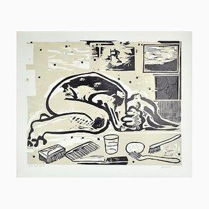 Danish Woodcut by Erik Hagens, 1984