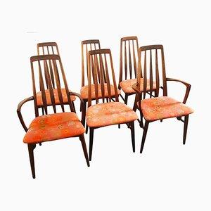 Chaises de Salle à Manger en Palissandre par Niels Koefoed pour Koefoeds Hornslet, Danemark, 1962, Set de 6