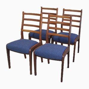 Esszimmerstühle aus Teak von Victor Wilkins für G-Plan, 1970er, 4er Set