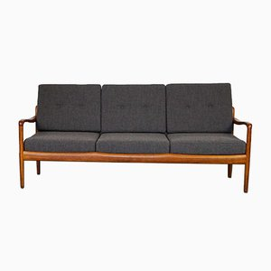 German Knoll Antimott 3-Seater Teak Sofa by Walter Knoll, 1960s