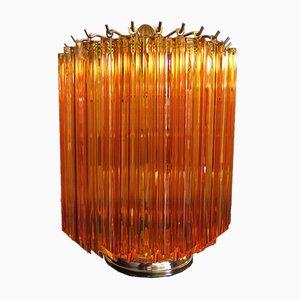 Vintage Italian Glass Quadriedri Table Lamps, 1981, Set of 2