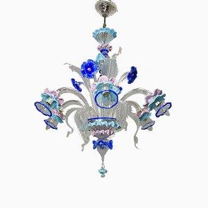 Italienische Deckenlampe aus geblasenem Glas von Maestri Vetrai, 1960er
