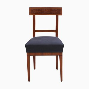 Antique German Birch, Cherry, and Ebony Side Chair