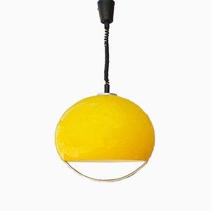 Lámpara de techo italiana era espacial ajustable de plexiglás de Luigi Massoni para Guzzini, 1971