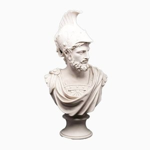 Marble Ajax Bust Sculpture from Sculptured Arts, 1990s