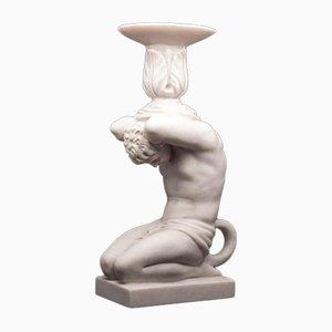 Candelabro de mármol con esculturas de Sculptured Arts, años 90