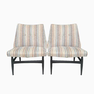 Italian Beech and Corian Lounge Chairs by Vittorio Dassi, 1960s, Set of 2