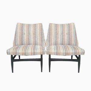 Italienische Sessel mit Gestell aus Buche von Vittorio Dassi, 1960er, 2er Set