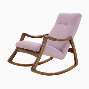 Beech and Fabric Rocking Chair from thon, 1960s