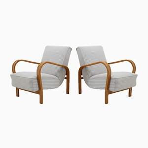 Beech Armchairs by Karel Kozelka & Antonin Kropacek, 1950s, Set of 2