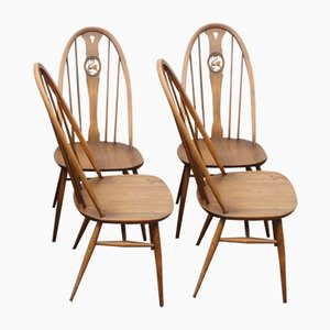 Mid-Century Oak Dining Chairs from Ercol, 1960s, Set of 4