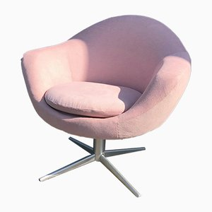 Mid-Century Metal and Velvet Swivel Chair, 1960s