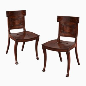 Antique Regency Mahogany Side Chairs from Elward, Marsh & Tatham, Set of 2
