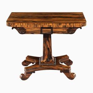 Table de Jeux Regency Antique en Bois de Calamander