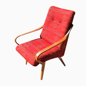 Czech Wooden Lounge Chair by Jaroslav Smidek, 1960s
