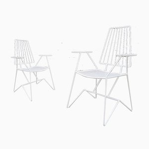 French Iron Garden Chairs by Mathieu Matégot, 1950s, Set of 2