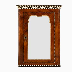 Placard Suspendu avec Miroir Antique en Acajou