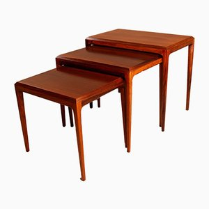 Danish Modernist Rosewood Nesting Tables by Johannes Andersen for CFC Silkeborg, 1960s