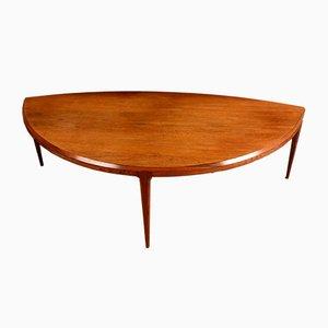 Tavolino da caffè modernista in palissandro di Johannes Andersen per CFC Silkeborg (Co.), Danimarca, anni '60