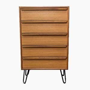 Danish Steel and Teak Dresser from Gasvig Møbler, 1960s
