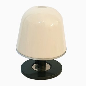Lampada da tavolo in acciaio cromato e metallo di Franco Bresciani per Guzzini, Italia, anni '70
