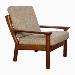 Danish Teak and Wool Lounge Chair from Glostrup, 1970s