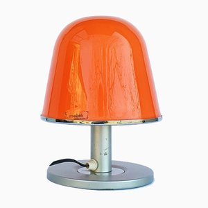 Lámpara de mesa modelo Kuala Mid-Century naranja de Franco Bresciani para Guzzini, años 70