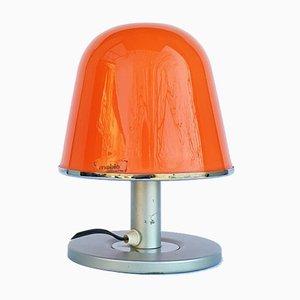 Orangene italienische Mid-Century Modell Kuala Tischlampe von Franco Bresciani für Guzzini, 1970er