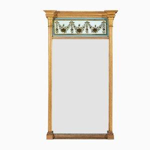 Specchio Regency antico in legno dorato