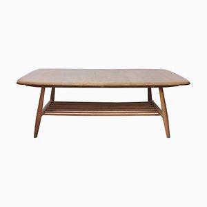 Table Basse en Hêtre et Orme avec Porte-Revues de Ercol, 1960s