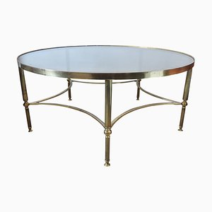Mid-Century French Brass & Glass Coffee Table, 1950s